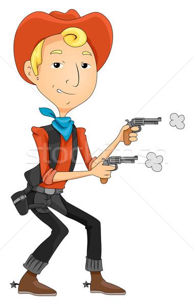 Cowboy Stock photo © lenm