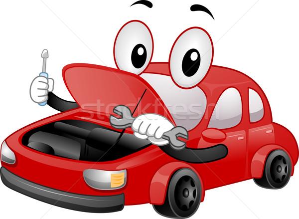 自動車修理 マスコット 実例 車 メカニック ストックフォト © lenm