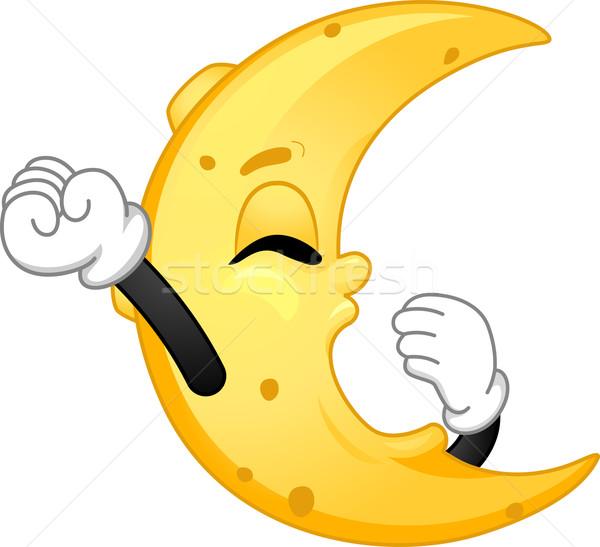 Ay maskot örnek yatak uyku Stok fotoğraf © lenm