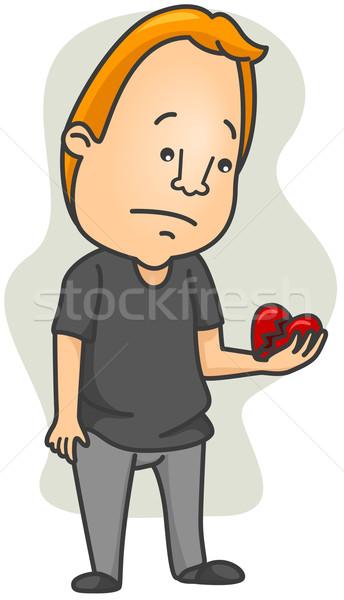 Brokenhearted Man Stock photo © lenm