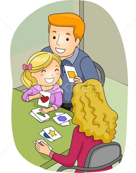 Family Flashcards Stock photo © lenm