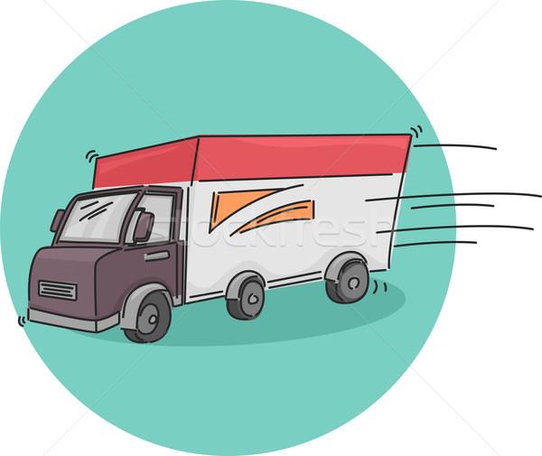 Teslim kamyon ikon örnek hareket kamyon taşıma Stok fotoğraf © lenm