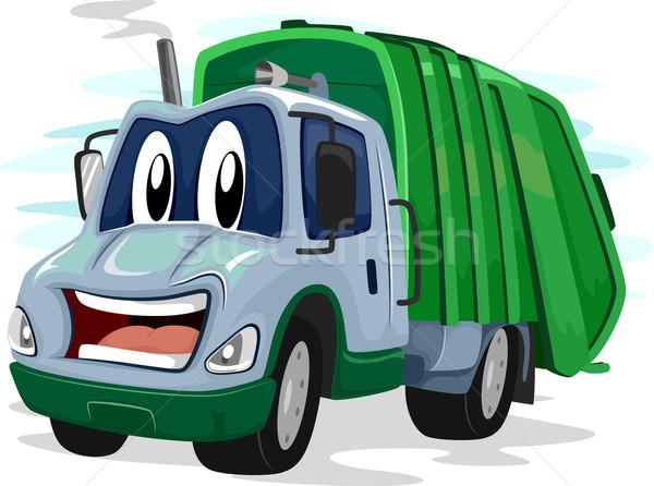 Kabala szemét teherautó illusztráció villanó kínos Stock fotó © lenm