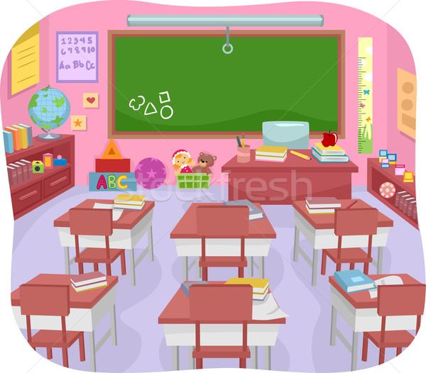 Classroom Preschool Stock photo © lenm