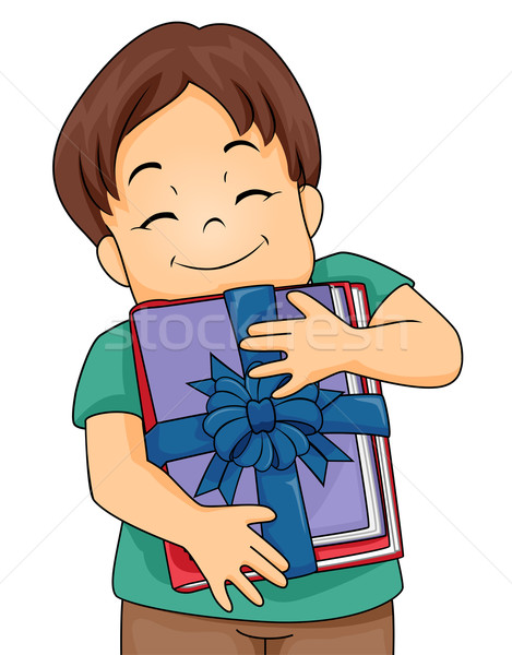 Kid Boy Books Gift Stock photo © lenm