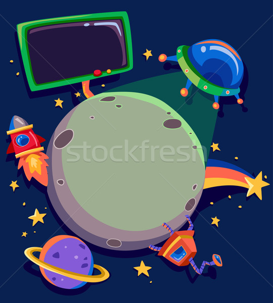Planeta espacio exterior marcos marco ilustración planetas Foto stock © lenm