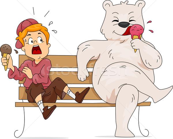 Polar Bear Ice Cream Stock photo © lenm
