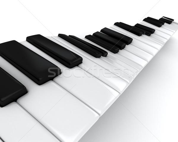 Piano Keys Stock photo © lenm