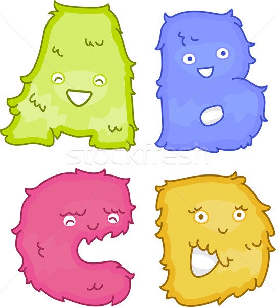 Alphabet peluche jouets illustration comme Photo stock © lenm