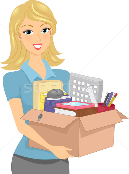 Box of Office Supplies Stock photo © lenm