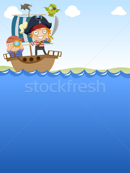 Pirates Sailing Stock photo © lenm