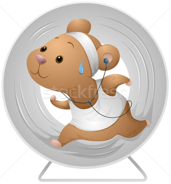 Hamster Exercising Stock photo © lenm