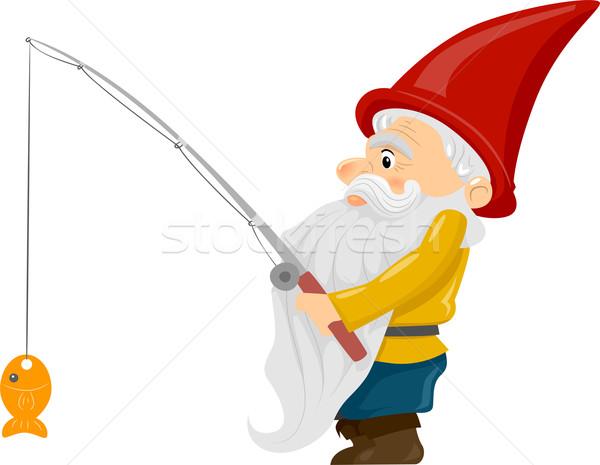 釣り ノーム 実例 釣り竿 魚 ストックフォト © lenm