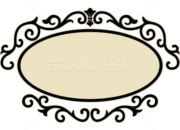 Oval quadro ilustração decorativo projeto Foto stock © lenm