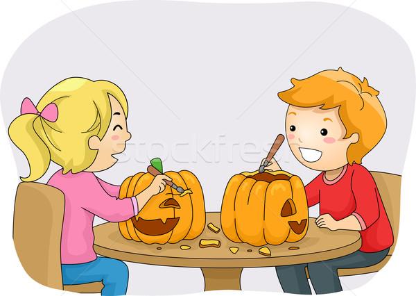 Pumpkin Carving Stock photo © lenm