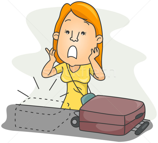 Perdu bagages Voyage cartoon clipart Photo stock © lenm
