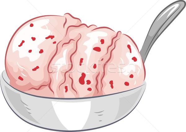Ice Cream Strawberry Flavor Stock photo © lenm