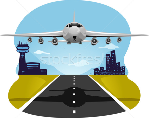 Airplane Take Off Stock photo © lenm