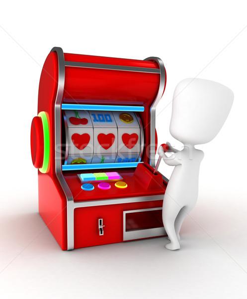 Amor jogar ilustração homem combinação corações Foto stock © lenm