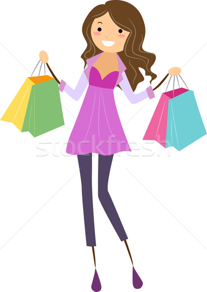 Girl Shopping Stock photo © lenm