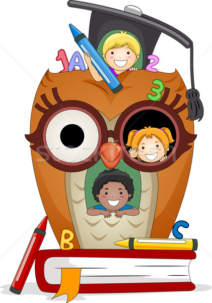 Kids Owl House Stock photo © lenm