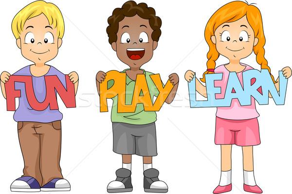 Kids Cutouts Stock photo © lenm