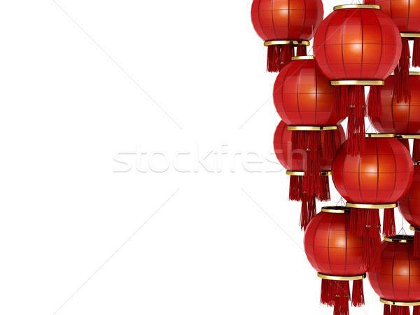 Capodanno cinese illustrazione 3d cinese lanterne vacanze cartoon Foto d'archivio © lenm