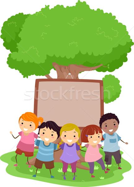 Tree Kids Stock photo © lenm