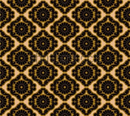 Végtelenített damaszt minta terv művészet arany Stock fotó © lenm
