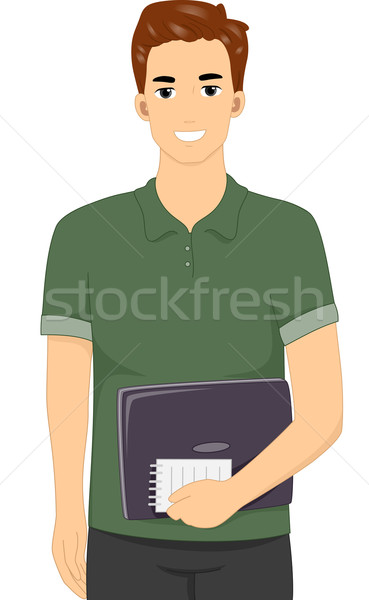 Hombre blogger escritor ilustración masculina Foto stock © lenm
