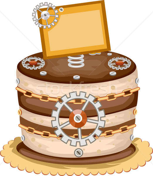 Steam Punk Cake Design Stock photo © lenm