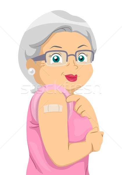 старший женщину вакцина иллюстрация Сток-фото © lenm