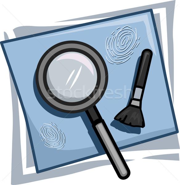 Investigator Icon Stock photo © lenm