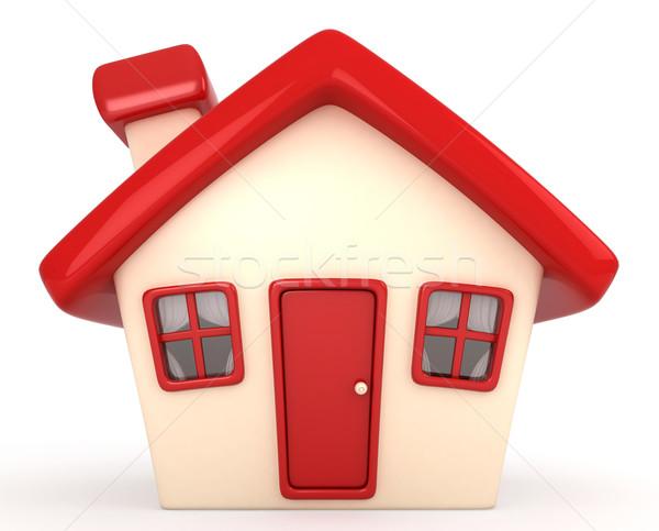 Ház 3d illusztráció otthon építészet rajz édes Stock fotó © lenm