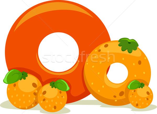 Illustration fruits éducation lettre apprentissage Photo stock © lenm