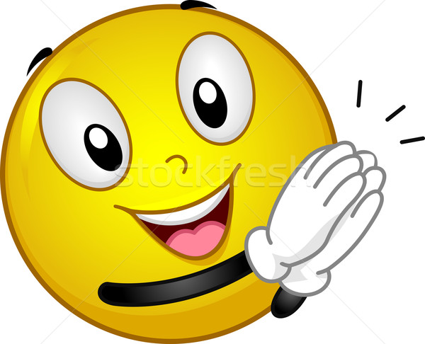 Stock photo: Clapping Smiley