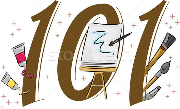 Schilderij 101 illustratie verf web Stockfoto © lenm