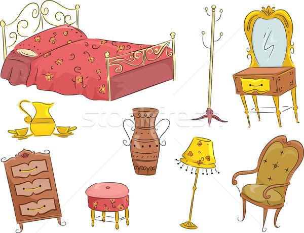 Vintage Furniture Stock photo © lenm