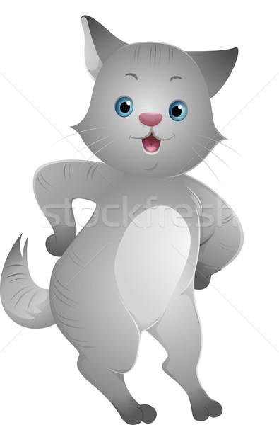 Happy Cat Stock photo © lenm