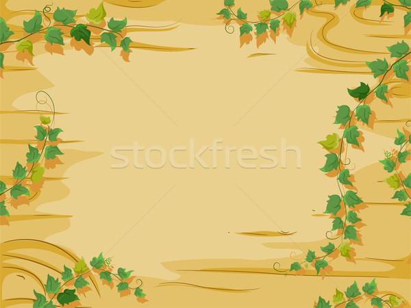 Sarmaşıklar orman arka plan örnek ahşap büyüyen Stok fotoğraf © lenm