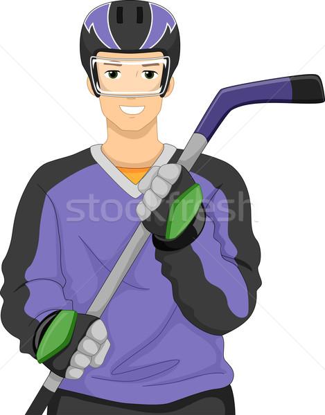 Ice Hockey Player Stock photo © lenm