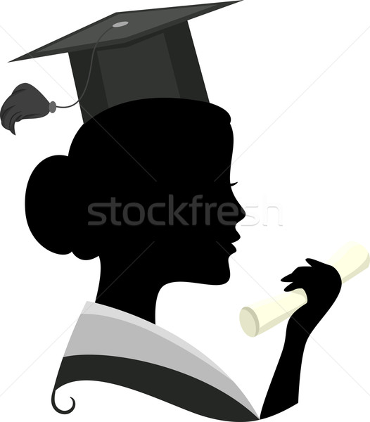 Graduate Silhouette Stock photo © lenm
