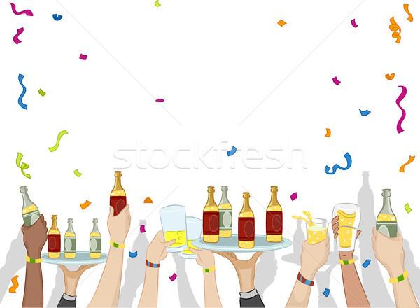 Party bevande confetti illustrazione alcol Foto d'archivio © lenm