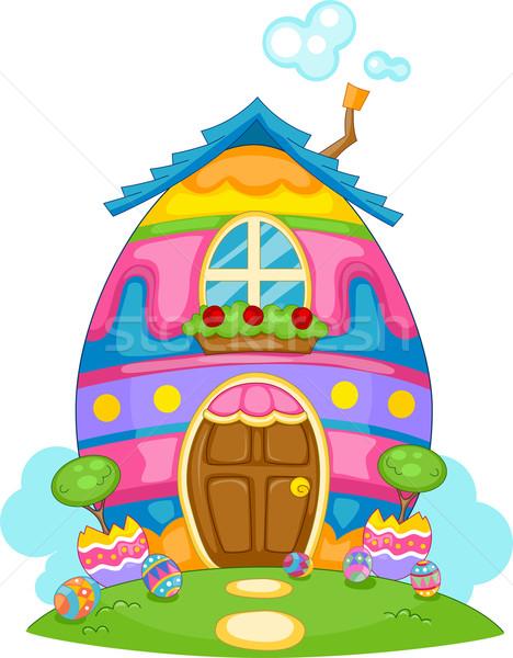 Easter Egg Themed House Stock photo © lenm