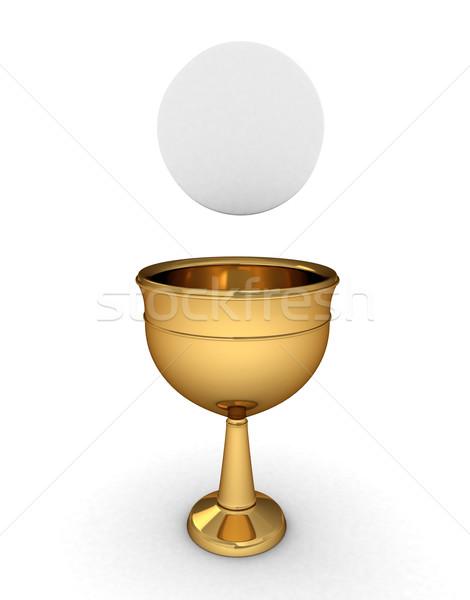 Kehely 3d illusztráció bor csésze borospohár úrvacsora Stock fotó © lenm