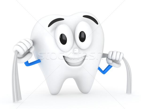 Diş 3d illustration temizlemek sağlık 3D örnek Stok fotoğraf © lenm