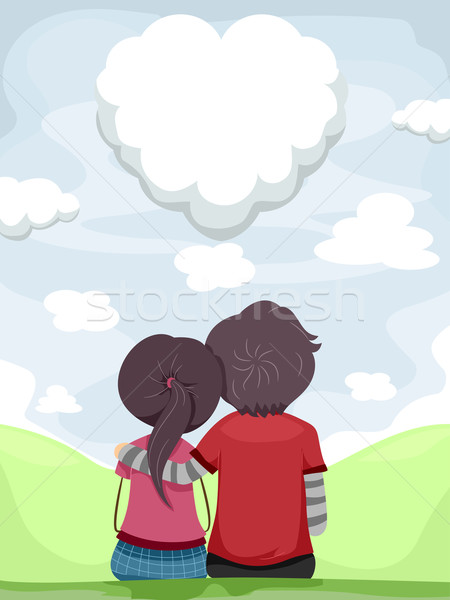 Skygazing Couple Stock photo © lenm