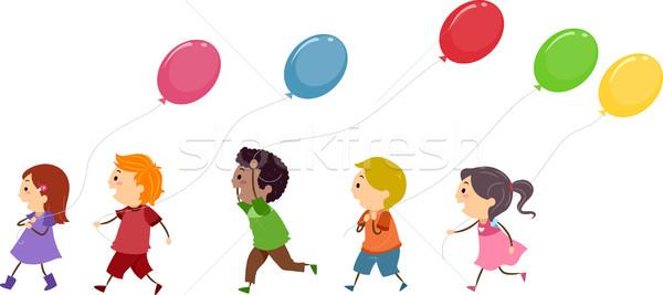Kids Balloons Stock photo © lenm