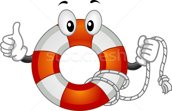 Mascotte illustration vecteur sauvetage clipart Photo stock © lenm