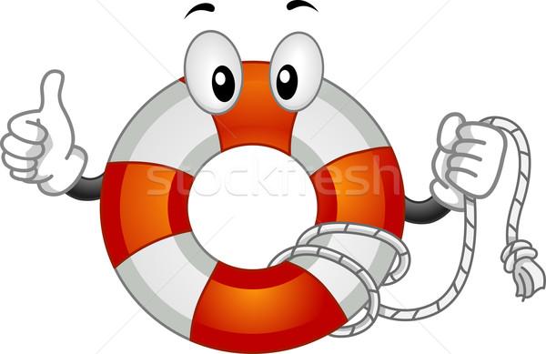 Mascotte illustratie vector redding clip art Stockfoto © lenm
